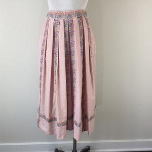 GEIGER 36 XS 2 4 Midi Maxi Pleated vintage skirt